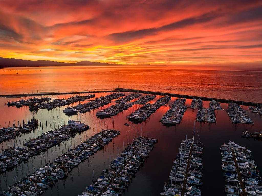 Harbor Sunrise, Santa Barbara, CA