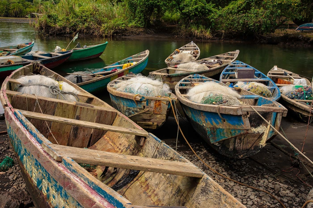 Fishing Boats, Inedou, Cameroon, Africa