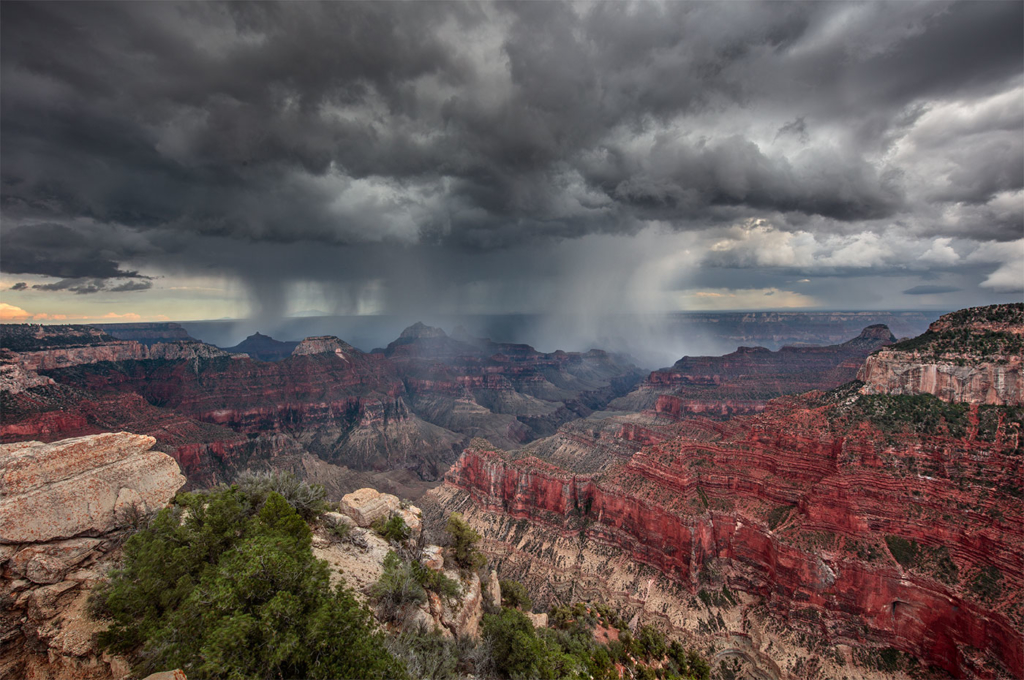 Monsoon over the Grand Canyon