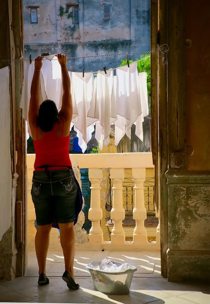 Laundry Day, Havana, Cuba