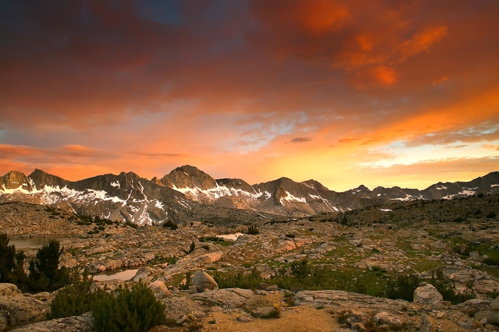 Dusy Basin Sunset, Kings Canyon NP, CA