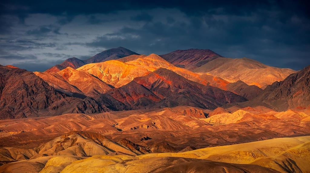 Desert Hills, Furnace Creek, Death Valley, CA