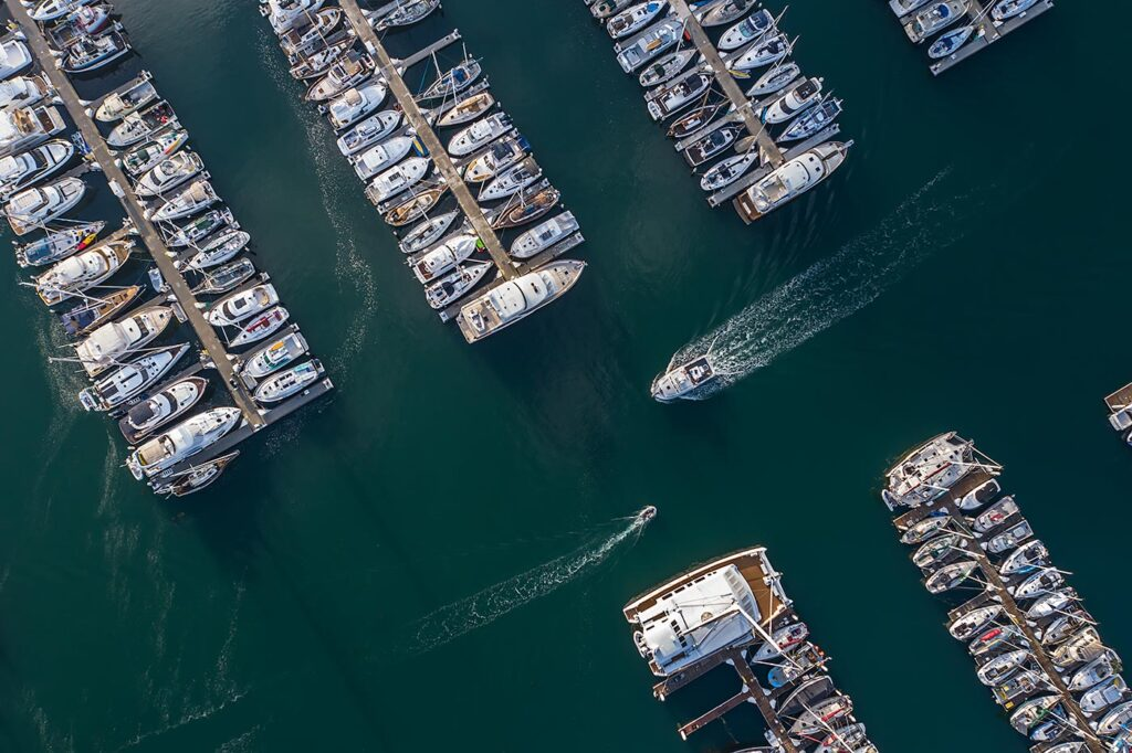Above the Santa Barbara Harbor