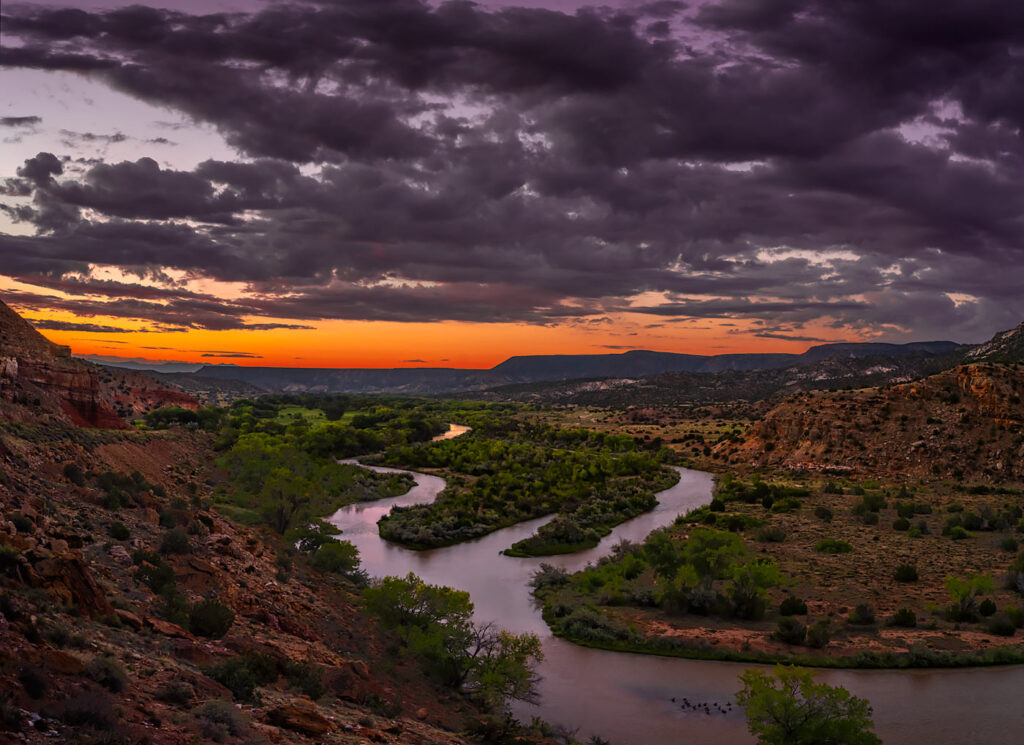 The Chama River Canyon, Abiquiu, New Mexico