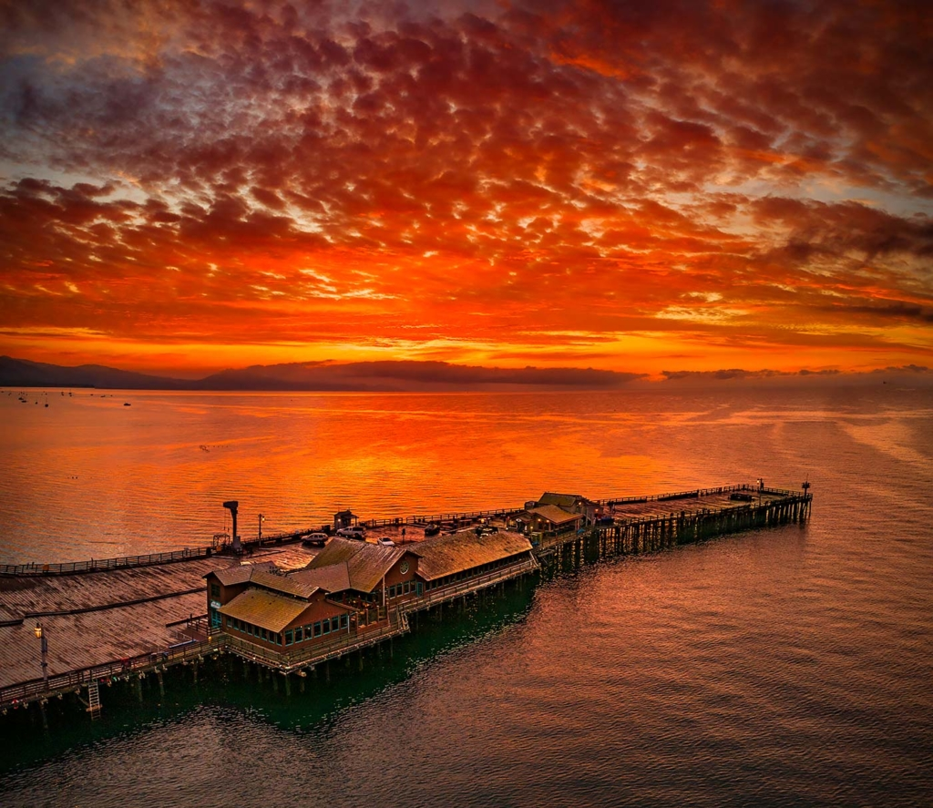 Sunrise over Stearns Wharf, Santa Barbara, CA