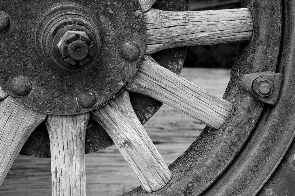Automobile Wheel, Virginia City, NV